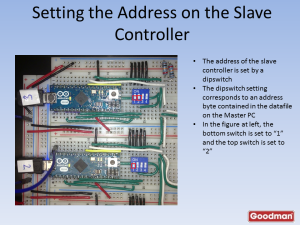 Each keyboard is independently addressable by a dip switch. Although this design supports only 16 keyboards, by adding additional bits to the dip switch, up to 255 keyboards could be supported.