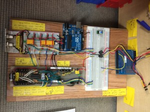 The goal is to control a functional test of the Cycle counter by simulating 0-30V signals coming from the PLC